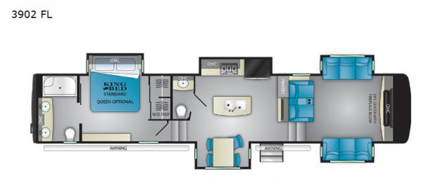 Big Country 3902 FL Floorplan
