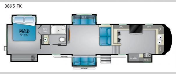 Big Country 3895 FK Floorplan