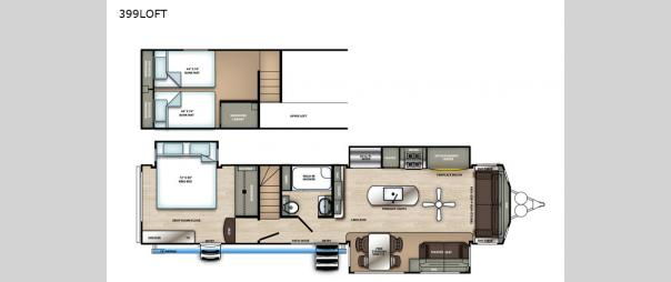 Sandpiper Destination Trailers 399LOFT Floorplan