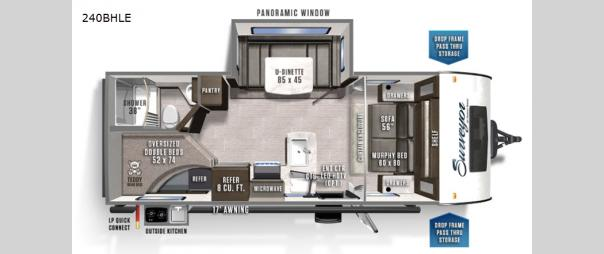 Surveyor Legend 240BHLE Floorplan