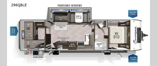Surveyor Legend 296QBLE Floorplan