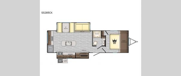 Sunset Trail 285CK Floorplan