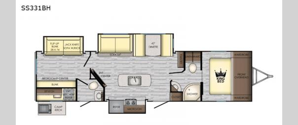 Sunset Trail 331BH Floorplan