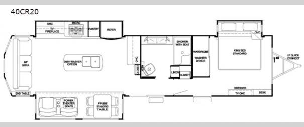 Cedar Creek Cottage 40CR20 Floorplan