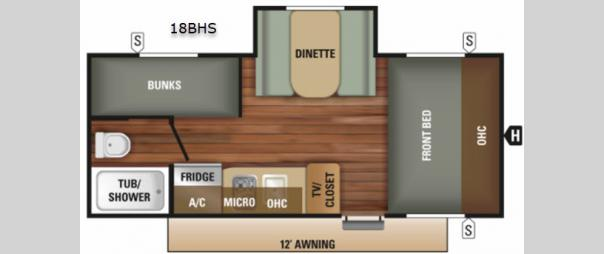 Mossy Oak 18BHS Floorplan