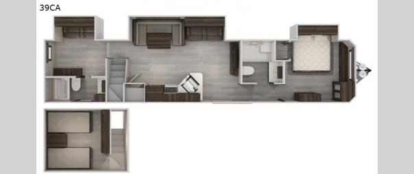 Cherokee Destination Trailers 39CA Floorplan