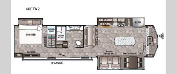 Cedar Creek Cottage 40CFK2 Floorplan
