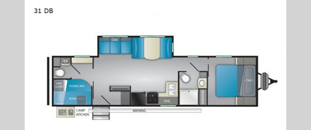 Trail Runner 31 DB Floorplan