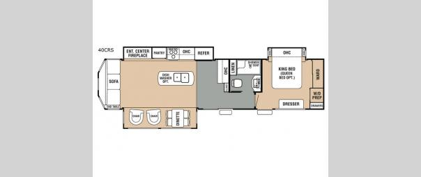 Cedar Creek Cottage 40CRS Floorplan