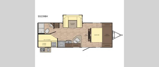 Sunset Trail Super Lite SS239BH Floorplan