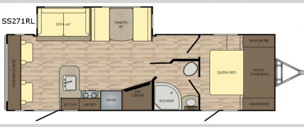 Sunset Trail Super Lite 271RL Floorplan