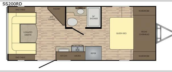 Sunset Trail Super Lite SS200RD Floorplan