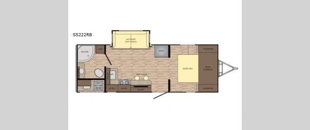 Sunset Trail Super Lite SS222RB Floorplan