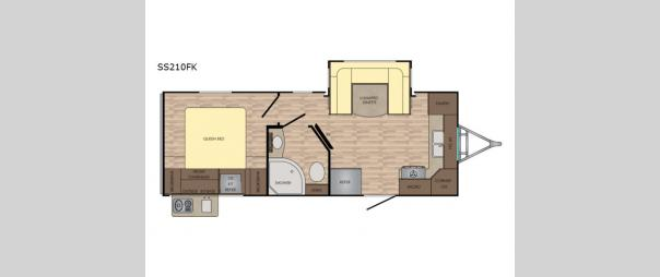 Sunset Trail Super Lite 210FK Floorplan