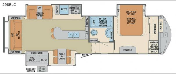 Columbus Compass 298RLC Floorplan