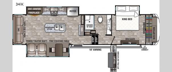 Cedar Creek Hathaway Edition 34IK Floorplan