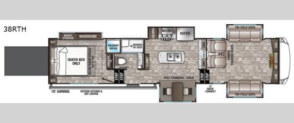 Cedar Creek Hathaway Edition 38RTH Floorplan