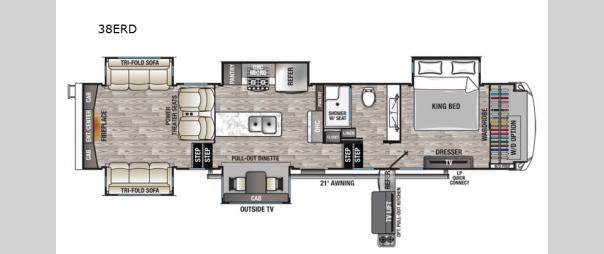 Cedar Creek Champagne Edition 38ERD Floorplan