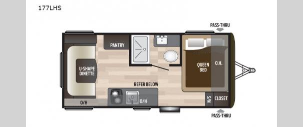 Hideout Single Axle 177LHS Floorplan