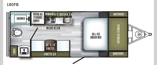 PaloMini 180FB Floorplan