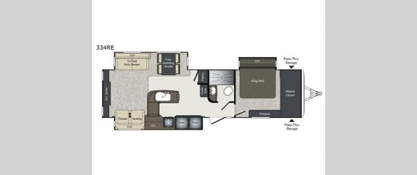 Laredo 334RE Floorplan