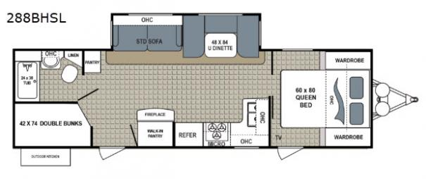 Kodiak Ultimate 288BHSL Floorplan