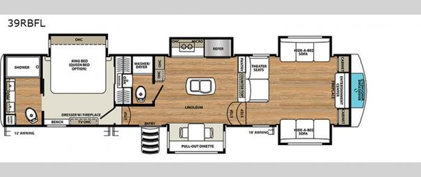 RiverStone 39RBFL Floorplan