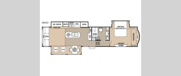 Cedar Creek 36CK2 Floorplan
