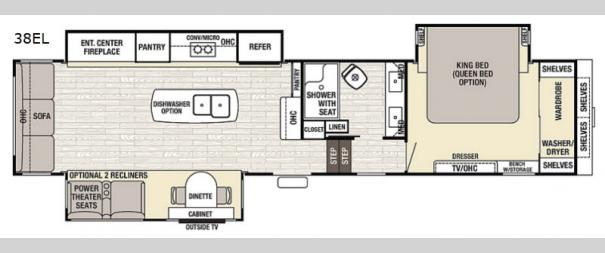 Cedar Creek Champagne Edition 38EL Floorplan