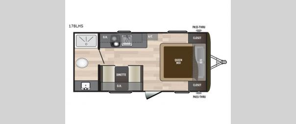 Hideout Single Axle 178LHS Floorplan