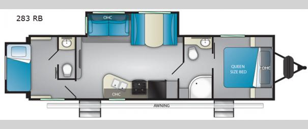 Sundance Ultra Lite 283RB Floorplan