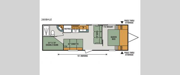 Sportsmen LE 260BHLE Floorplan