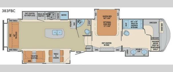 Columbus Compass 383FBC Floorplan