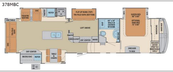 Columbus Compass 378MBC Floorplan