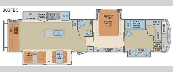 Columbus 383FBC Floorplan