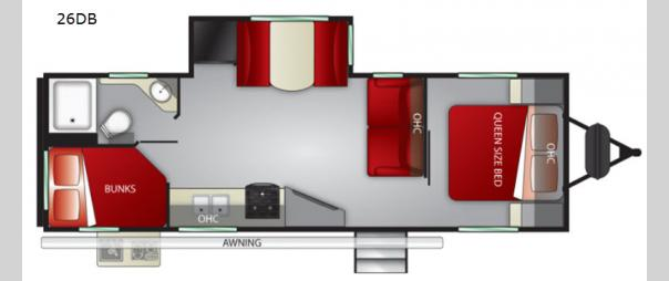 Fun Finder 26DB Floorplan