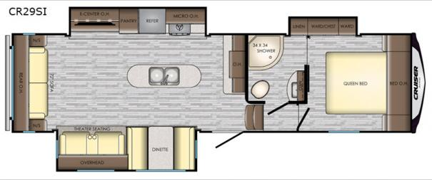 Cruiser Aire CR29SI Floorplan