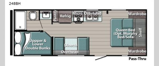 Kingsport Ultra Lite 248BH Floorplan