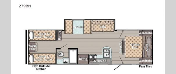 Kingsport Ultra Lite 279BH Floorplan