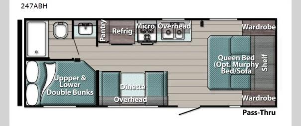 Kingsport Ultra Lite 247ABH Floorplan