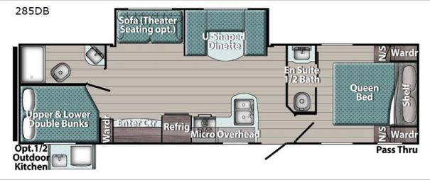 Kingsport Ultra Lite 285DB Floorplan