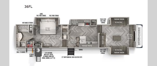 Salem Hemisphere Elite 36FL Floorplan