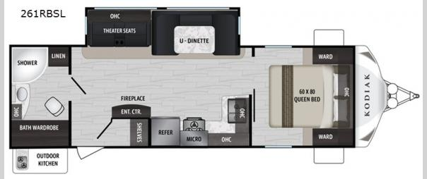 Kodiak Ultra-Lite 261RBSL Floorplan