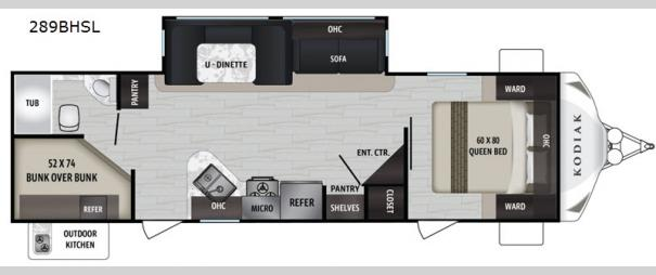 Kodiak Ultra-Lite 289BHSL Floorplan