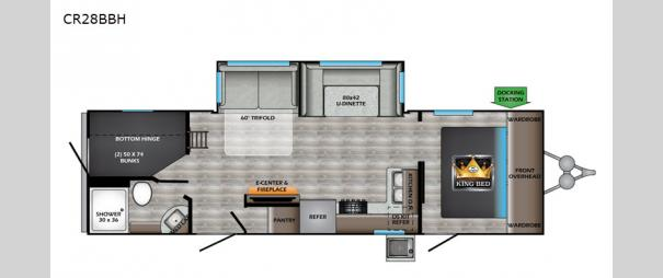 Cruiser Aire 28BBH Floorplan