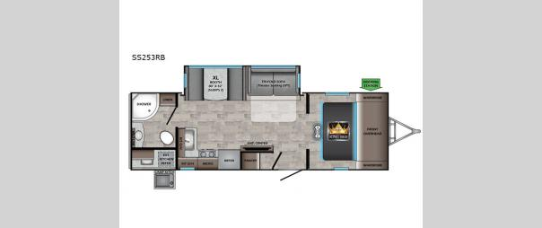 Sunset Trail SS253RB Floorplan