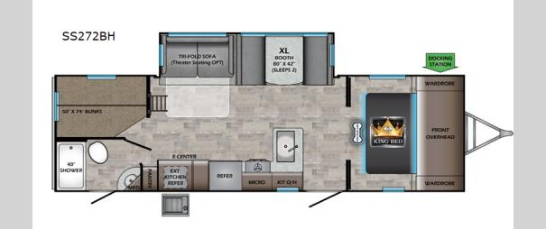 Sunset Trail SS272BH Floorplan