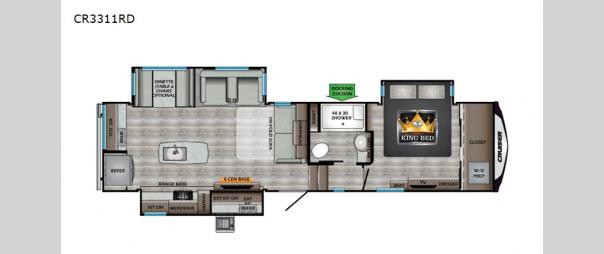 Cruiser CR3311RD Floorplan