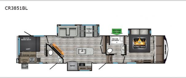 Cruiser CR3851BL Floorplan
