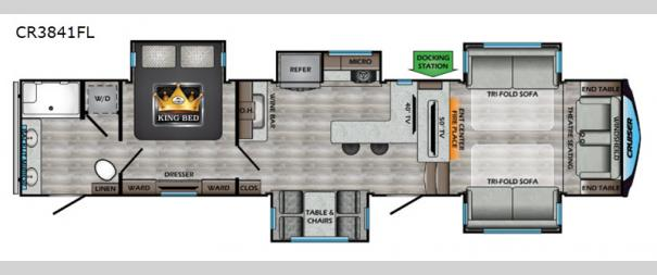 Cruiser CR3841FL Floorplan